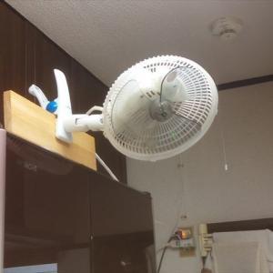 クリップ式ミニ扇風機の設置