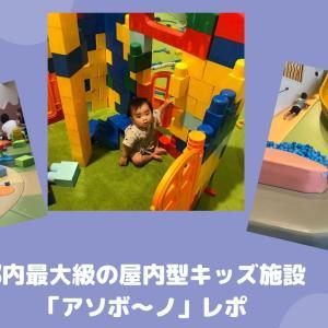 【1歳児レポ】都内最大級の屋内型キッズ施設「アソボ~ノ」に行ってきた