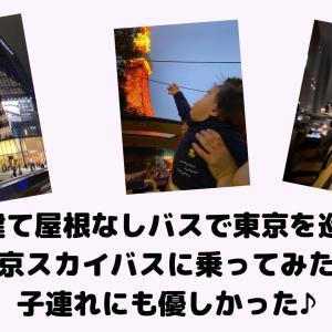 2階建て屋根なしバスで東京を巡る!東京スカイバスに乗ってみた!子連れレポ♪