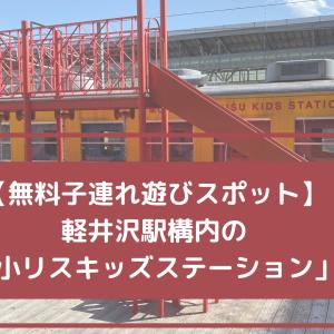 【無料】軽井沢駅の子連れ遊びスポット「森の小リスキッズステーション」がかなり良かった♪