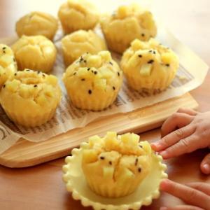 豆腐入りでもちもちしっとり蒸しパン☆ホットケーキミックス使用、レンジでもできる時短簡単レシピ!