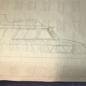 漁船ラジコン船のブリッジを製作始めました。。。
