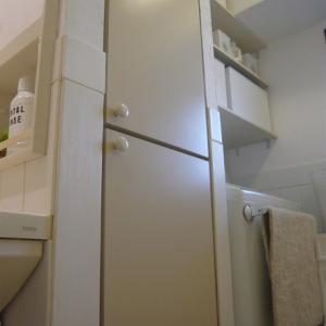 洗面所にある収納の棚が少ないのでニトリ商品で解決!