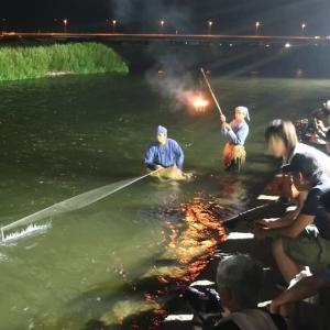 【石和温泉】笛吹川 石和鵜飼実演と花火に行きました