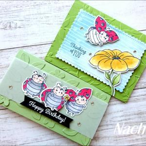 可愛いリトル・レディバグのカード