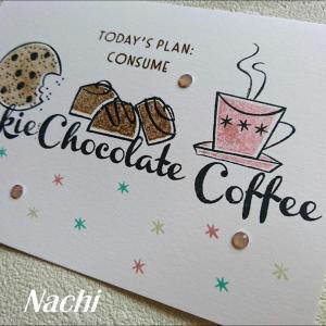 コーヒーカップ、チョコ、クッキー