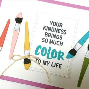 絵筆が可愛いカード