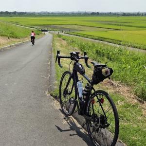 お盆休みサイクリング 荒川右岸の農村風景など