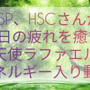 HSP、HSCさんが1日の疲れを癒すエネルギー入り動画