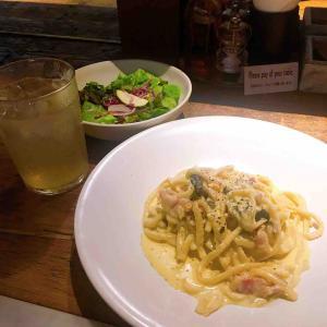 〔food〕平茸と地養卵のカルボナーラ/カフェ リゴレット