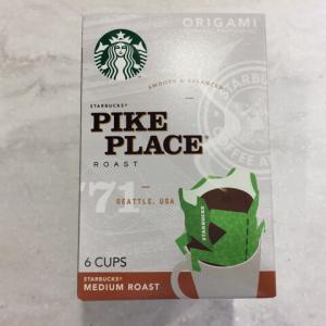 【飲んでみた!】スターバックス オリガミドリップコーヒー パイクプレイスロースト ORIGAMI PERSONAL DRIP(スターバックスコーヒージャパン)