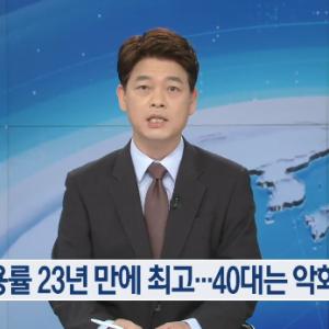 韓国、9月の就業率61.5%で23年ぶりの高水準を記録...ただし40代は悪化 【韓国の反応】