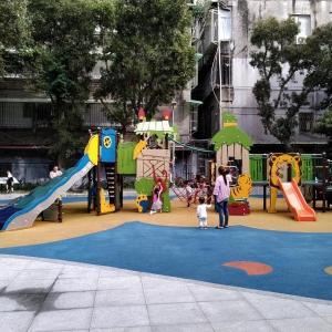 台北・中山区 | 晴光公園・雙城街にある児童公園の遊具が秀逸だった件