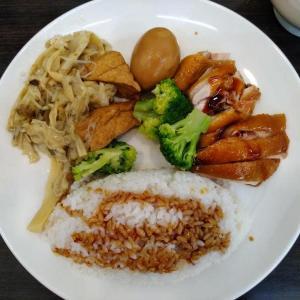 台北・孔子廟そばの安い・ウマい・ご飯おかわり無料のチキンライス定食 | 金好呷好吃鶏肉飯