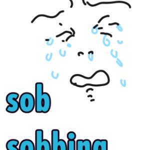【イラスト英単語】sob,sobbing / SOB