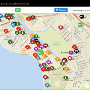 事件発生マップで危険場所をチェック!