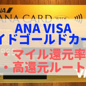 ANAVISAワイドゴールドカードのマイル還元率は?高還元のLINEルート解説