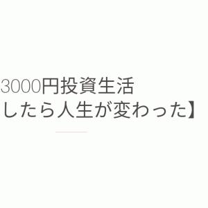3000円投資生活【実践したら人生が変わった】
