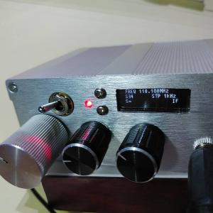 オリジナルケースにデジタル局発も入れる (その2)  To install the digital LO into the Chinese original aluminum case with receiver kit. (2nd)
