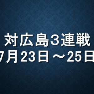 広島対中日(マツダ)|2019年7月23日(火)~7月25日(木)