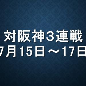 中日対阪神(ナゴヤD、豊橋)|2019年7月15日(月)~17日(水)