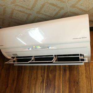 寝室を快適に~省エネ暖房エアコンをお買い上げいただきました