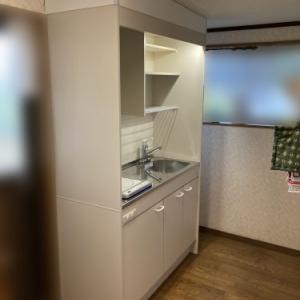 2階のミニキッチンを新しくIH仕様に更新していただきました