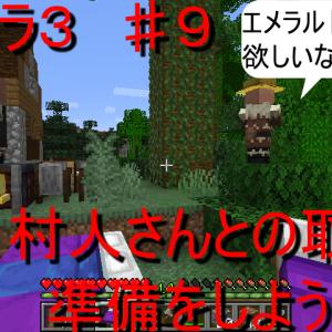 エイクラ3 ♯9 村人さんとの取引の準備をしよう!