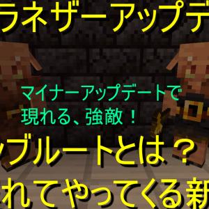 【マイクラネザーアップデート】 ピグリンブルートとは? 少し遅れてやってくる新mob!