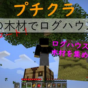 プチクラ 新企画スタート! 【4種の木材でログハウス#1】