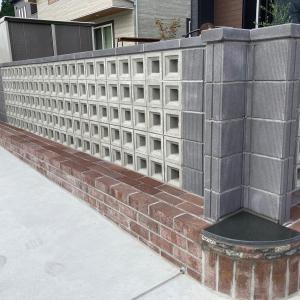 空洞ブロックを使った外構が完成