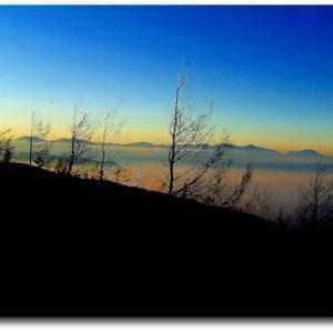 富士山五合目から下界を…