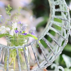 庭の花と、てぬぐいリメイク帯