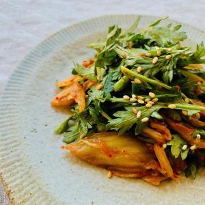【新たな無限レシピ!】和えるだけ!簡単激うま春菊サラダ。