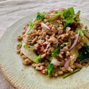 【簡単☆肉サラダ】セロリと豚ひき肉のタイ風サラダ♪