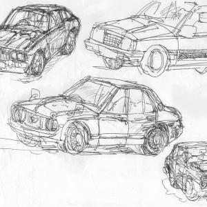 【ストレス解消絵日記】懐かしい車たち20200701