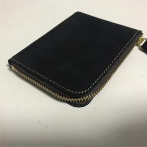 ハンドメイドのミニマムなL字ジップの財布を買った。[たむたむ工房※水曜定休のレザー製品]