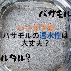 【庭レンガDIY】バサモルって何?透水性はあるの?【外構DIY】
