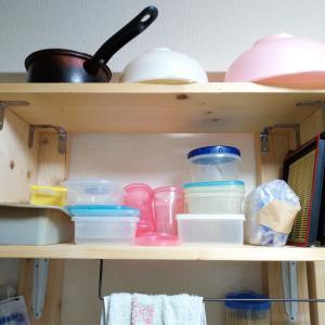 ラブリコを使って賃貸のキッチンに収納棚を自作!