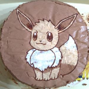 生クリームでのキャラケーキ作りに挑戦・チョコときなこで着色