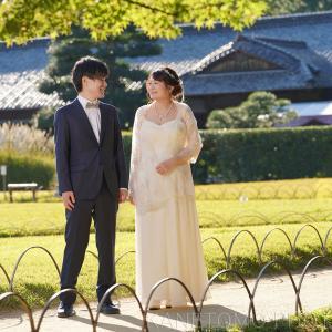 岡山後楽園で結婚の前撮り
