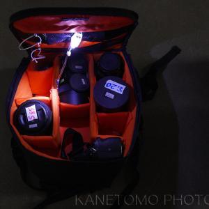 カメラバッグ内の照明