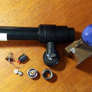 夏休みの工作「簡易赤道儀極軸望遠鏡の修理」