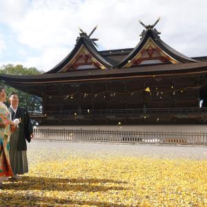 吉備津神社境内で撮影