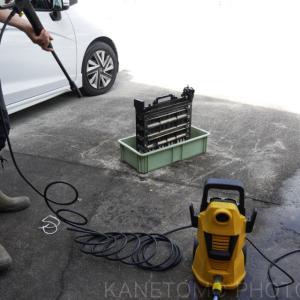銀塩プリンターの洗浄に高圧洗浄機