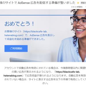 はてなブログ(無料版)のみでGoogle AdSenseに3回目で合格!2019年7月