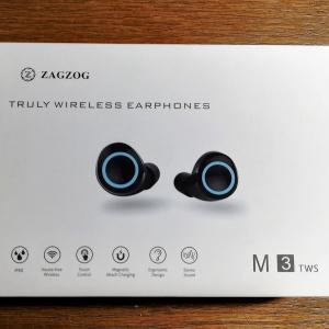 5千円以内で買える完全ワイヤレスイヤホン購入、おすすめポイントと音質レビュー【Zagzog TWS-M3】