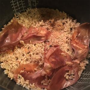 クズ野菜入りお米の炊飯