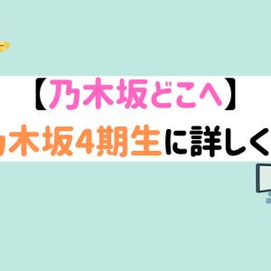 【乃木坂どこへ】最短で乃木坂4期生に詳しくなる方法【経験談】
