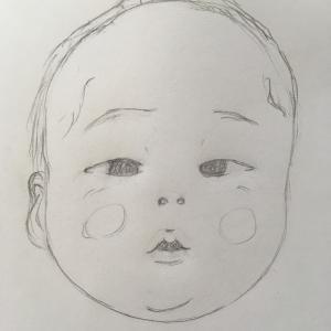 子供の似顔絵を描いてみた。別人に見えるほど、いろんな顔をする